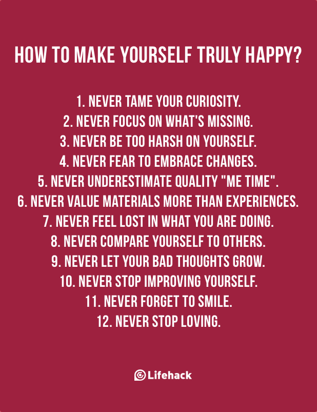 How to make yourself truly happy