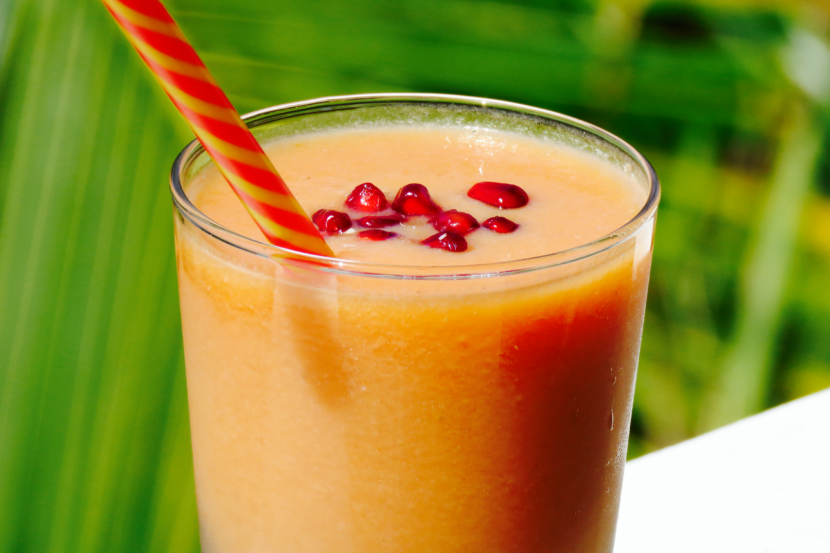 Pomegranate Papaya Smoothie