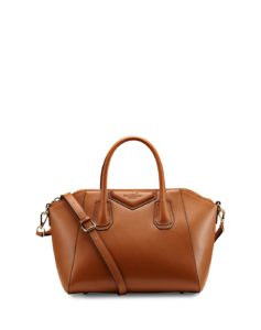 Brown Elegant Office Leather Satchel Shoulder Bag