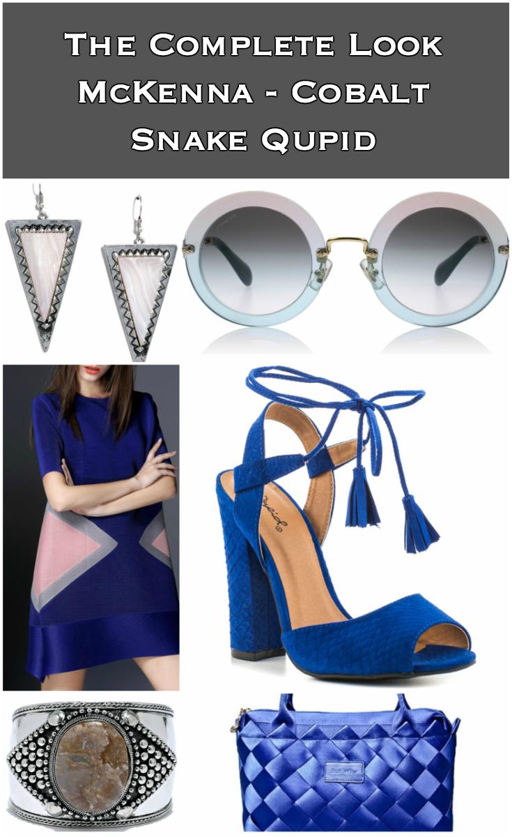 McKenna - Cobalt Snake Qupid Outfit