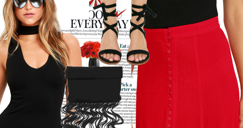 Style Inspiration: Red Maxi Shirt Look